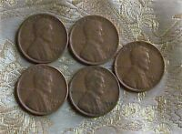 LOT OF FIVE LINCOLN CENT'S 1929-S,1934-P,1934-D,1935-D,1935-S