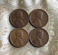 LOT OF FOUR LINCOLN CENT'S 1929-P/S,1930-S,1931-P