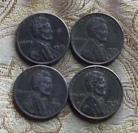 TWO 1943 P/D  LINCOLN WHEAT CENT SET'S   ZINC  COATED STEEL     4 COIN'S }