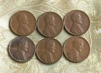 1945-P/D/S,1946-P/D/S LINCOLN WHEAT CENT'S   6 COIN'S