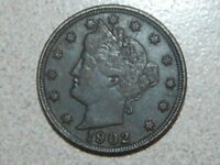 1902 LIBERTY NICKEL FULL LIBERTY DARK COIN 2407