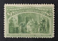 CKSTAMPS: US STAMPS COLLECTION SCOTT243 $1 COLUMBIAN UNUSED NG THIN CV$750