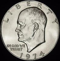 1974  P  CHOICE BU ALL WHITE EISENHOWER DOLLAR   BEST VALUE @ CHERRYPICKERCOINS