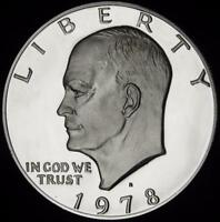 1978 S GEM CLAD PROOF ALL WHITE EISENHOWER DOLLAR   VALUE @ CHERRYPICKERCOINS
