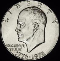 1976  P  TYPE 1 REV CHOICE BU ALL WHITE EISENHOWER DOLLAR   @ CHERRYPICKERCOINS