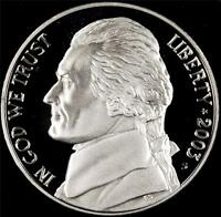 2003 S GEM PROOF JEFFERSON NICKEL   ALWAYS BEST VALUE @ CHERRYPICKERCOINS