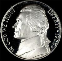 1985 S GEM PROOF JEFFERSON NICKEL   ALWAYS BEST VALUE @ CHERRYPICKERCOINS
