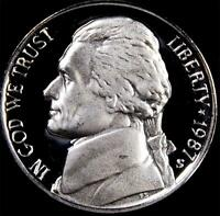 1987 S GEM PROOF JEFFERSON NICKEL   ALWAYS BEST VALUE @ CHERRYPICKERCOINS