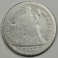 1875-S  SEATED LIBERTY DIME.  CIRCULATED.  91074