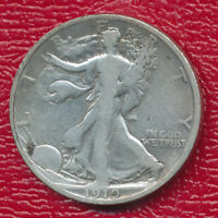 1919-D WALKING LIBERTY SILVER HALF DOLLAR  GOOD COIN SHIPS FREE