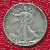 1934-S WALKING LIBERTY SILVER HALF DOLLAR  FINE COIN SHIPS FREE