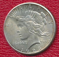 1926 PEACE SILVER DOLLAR ABOUT UNCIRCULATED SHIPS FREE