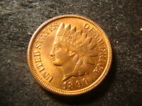 1890 RED BU GLOSSY INDIAN HEAD CENT   COIN RBZ