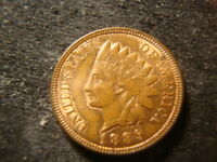 1889 RED  BROWN  BU GLOSSY INDIAN HEAD CENT   COIN RBZ
