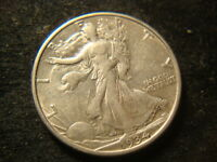 1934-D EXTRA FINE  AU WALKING LIBERTY HALF DOLLAR FULL DEVICES PHX