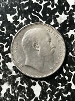 1908 INDIA 1 RUPEE LOTX4500 SILVER  CLEANED