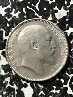 1910 INDIA 1 RUPEE LOTX4501 SILVER  CLEANED