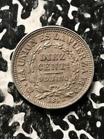1893 PTS BOLIVIA 10 CENTS LOTX4509 SILVER  LOW MINTAGE