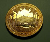 TONED 2013 S CLAD PROOF WHITE MOUNTAIN ATB QUARTER  W26774