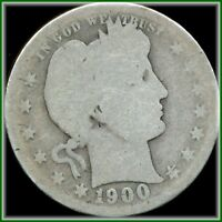 1900 BARBER QUARTER  SILVER EARLY DATE COLLECTORS HOLIDAY BARGAIN BUY JUST $5.00