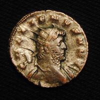 BILLON ANTONINIANUS EMPEROR GALLIENUS RV ORIENS AVG  MILAN MINT 265  4.36 GRAMS