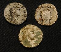 3 BILLON 'ANTS' EMPEROR GALLIENUS RV PROVID AVG PAX & SALVS AVG 7.48 GRAM 16 7MM