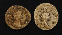 2 BILLON 'ANTS' EMPEROR GALLIENUS RV VIRTVS & ABVNDANTIA AVG 6.66 GRAM 20 2MM