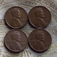 LOT OF FOUR LINCOLN CENT'S 1953-D/S,1954-D/S