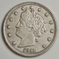1911 LIBERTY NICKEL.  A.U. DETAIL.  121242