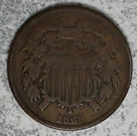 ORIGINAL 1868 TWO CENT PIECE
