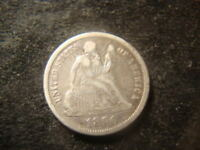 1890  VF SEATED LIBERTY DIME   RIMS FULL LIBERTY DECENT COIN  MG