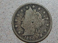 1890 LIBERTY NICKEL  COIN  2446