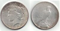 1925 PEACE SILVER DOLLAR IN EXTRA FINE TO ALMOST UNCIRCULATED CONDITION