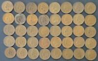 1896-1907 INDIAN CENT ROLL EF 40PCS 11 DATES