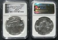 2013  SILVER EAGLE NGC MS70 STRUCK AT WEST POINT EARLY RELEASES