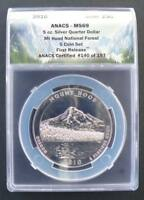 2010 5OZ SILVER MT HOOD ANACS MINT STATE 69 1ST RELEASE 140 OF 197