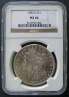 1880 S MORGAN DOLLAR NGC MINT STATE 66