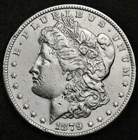 1879-S MORGAN SILVER DOLLAR.  REVERSE OF 1878.  A.U.  121467