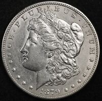 1879-S MORGAN SILVER DOLLAR.  REVERSE 1878.  PROOF-LIKE A.U.  123746