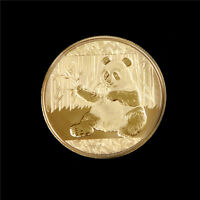 GOLD PLATED PANDA BAOBAO COMMEMORATIVE CHALLENGE COIN COLLECTIBLE TB