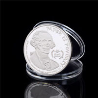 AMERICAN SKULL GHOST MONEY SILVER PLATED COMMEMORATIVE COIN COLLECTION GIFT TB