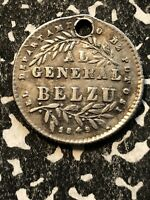 1849 BOLIVIA PROCLAMATION COINAGE MEDAL 1 SOL SILVER  LOTP015 BRN28.2