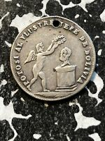 1853 BOLIVIA PROCLAMATION COINAGE MEDAL 1 SOL SILVER  LOTP027 BRN61A