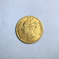EARLY DATE 1859 VICTORIA YOUNG HEAD GOLD SHIELD HALF SOVEREI