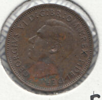 1952 GEORGE VI UNC FARTHING S4119 F658 2 A LUSTRE REMAINING