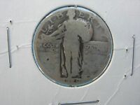 1929 P SILVER STANDING LIBERTY QUARTER IN ABOUT GOOD CONDITION