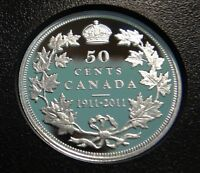 1911 2011 CANADA SILVER PROOF 50 COIN    GEORGE V CANADIAN HALF DOLLAR