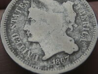 1867 THREE 3 CENT NICKEL  OLD TYPE COIN