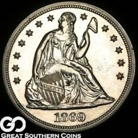 1869 SEATED LIBERTY DOLLAR PROOF HIGHLY DEMANDED PR JUST 600