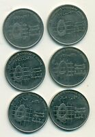 3 DIFFERENT 5 PIASTRE COINS FROM JORDAN  1993 1998 & 2009